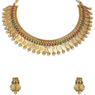 The Gold Plated  Lakshmi  Necklace-6