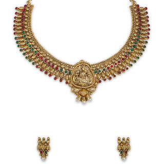 The Gold Plated  Lakshmi  Necklace-20