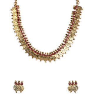 The Gold Plated  Lakshmi  Necklace-22