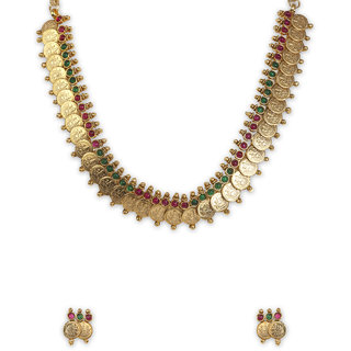 The Gold Plated  Lakshmi  Necklace-23