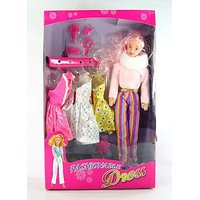 Doll Set With Smart Dresses For Baby Girl