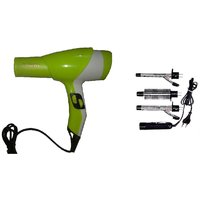 Combo Of Hair Dryer With Hot & Cold Dual Function + 3-in-1 Set Of Curling Iron .