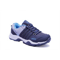 Adza men grey and sky blue casual running sports shoes