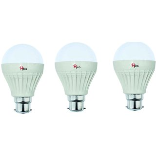 HomePro 7W Pack of 3 LED Bulbs with 1 year warranty