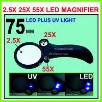 Magnifying Glass 2.5X25X55X - 75MM