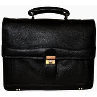 Bag Jack -  The Sleek And Structured Vulpecula Briefcase Style Black Color Leath