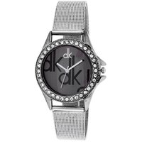 Dk Sliver Party ladies analog  watches For Women By miss