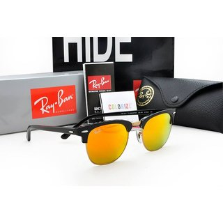 Clubmaster Orange Mirror Sunglasses