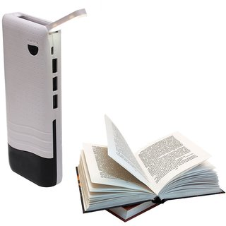 Super 15K High Speed Fast Charge Lamp 15000 MAh Power Bank (Black)