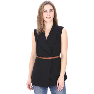MansiCollections Womens Sleeveless Coat