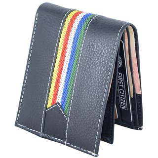 Holboro Mens Genuine Leather Bifold Wallet + Free 7 Pcs Twin Blade Disposable Razors
