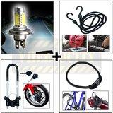 SMD Headlamp + Bungee Rope + Front Disc Lock + 4 Digit Lock
