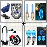 Disc Lock + Front Wheel Lock + Tyre LED + Skull LED