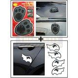 Foot Car Dashboard Sticky Pad / Anti Slip Mat + Mini Davil Car Door Guard / Scratch Guard