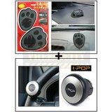Foot Car Dashboard Sticky Pad / Anti Slip Mat + I Pop Mini Steering Wheel Knob