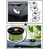 Mini Davil Car Door Guard / Scratch Guard + Aromate Jasmine Dashboard Car Air Freshener
