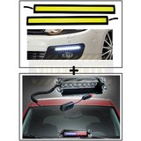 High Dentisity Car Day Time Running Light (DRL) + 8 LEDs Wind Shield Sucker Strobe Warning Flash Red / Blue Light- Police Light 4W
