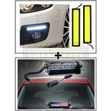 High Dentisity Thick Car Day Time Running Light (DRL) + 8 LEDs Wind Shield Sucker Strobe Warning Flash Red / Blue Light- Police Light 4W