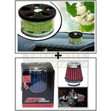 Aromate Jasmine Dashboard Car Air Freshener + HP Air Filter / Bike Air Filter
