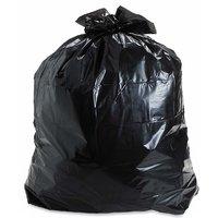 150 Pieces Black Disposable Garbage / Dust Bin Bag (19X21 Inch) - 123_123-000181