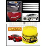 Vheelocity Chrome Car Bumper Safety Guard Protectors + Waxpol Ultra Glo Polish With Uv Guard 100Gms