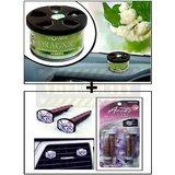 Vheelocity Aromate Organic Car Perfume Air Freshener - Jasmine + Aromate Aroma Clip Unique Car Perfume