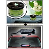 Vheelocity Aromate Organic Car Perfume Air Freshener - Jasmine + 8 Leds Wind Shield Sucker Strobe Warning Flash Red / Blue Light- Police Light 4W