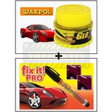 Vheelocity Waxpol Ultra Glo Polish With Uv Guard 100Gms + Car / Bike Scratch Remover Pen - Fix It Pro - Instant Scratch Remover