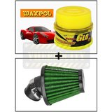 Vheelocity Waxpol Ultra Glo Polish With Uv Guard 100Gms + Rad Free Flow Air Filter For Bikes To Increase Performance And Mileage