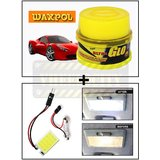 Vheelocity Waxpol Ultra Glo Polish With Uv Guard 100Gms + Super Bright Car Roof Light / Dome Light - Square