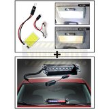 Vheelocity Super Bright Car Roof Light / Dome Light - Square + 8 Leds Wind Shield Sucker Strobe Warning Flash Red / Blue Light- Police Light 4W
