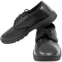 Synthetic Leather Black Pvc School Shoes