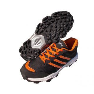 Port Mens Orange Octane2 PU Cricket Shoes
