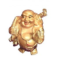 Laughing Buddha In Golden Colour