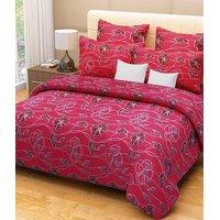 Combo Pack Of 100% Cotton Double Bed Sheet 2 Pillow Covers & 2 Door Mat-hc02