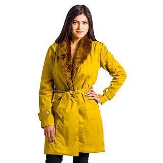 Fbbic Yellow Fur Coat