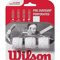 Wilson Sporting Goods Pro Perforated Tennis Racket Grip (Pack of 3), White