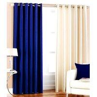 Plain Silky Door Curtain (Pack Of 2) - 10 Option