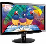 "ViewSonic VA1938WA-LED Black 18.5""  Widescreen LED Monitor  With 3 Yrs Warranty"