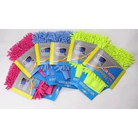 Set Of 12 Wholesale Microfiber Cleaning Gloves Single Sided