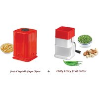 Amiraj Combo Of Chilly Cutter & Fruit & Vegetabe Finger Chipser - 04