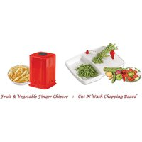 Amiraj Combo Of Cut N Wash Chopping Board & Fruit & Vegetable Finger Chipser -14