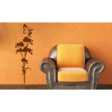 Allium Floral And Butterfly Wall Sticker