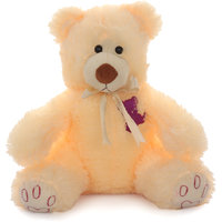 Acctu Peach Rock Bear Small Soft Toy