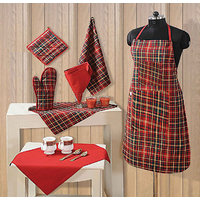 Sweet Home Top Chef Kitchen Set Of 5 Pieces (apron/gloves/pot Holder/napkin/hankey)