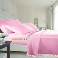 Sweet Home Single Bed Sheet Cum Top Sheet With Boarder Design(set Of 2pcs)001