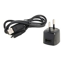 Mini USB Power Adapter With USB Charging Data Cable For Blackberry