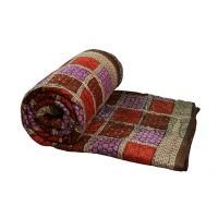 Buy Clues Multi Colour Jaipuri Hand Made Block Print  Double Bed Quilts (Design 37)