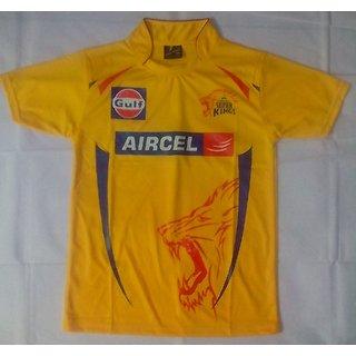"IPL Jersey Cricket T20 India Jersey T Shirt Chennai Super Kings CSK ""Size= L"""