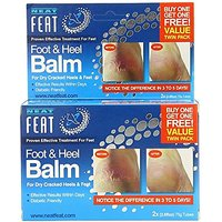 Neat Feat Foot and Heel Balm Twin Pack, 150 Gram, 5.2 Fl Oz